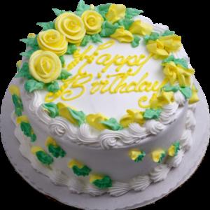 Tort cu trandafiri galbeni-0