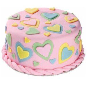 Tort Valentine's Day cu inimioare-0