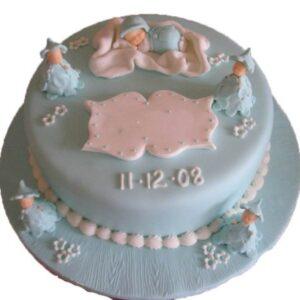Tort botez cu 5 bebelusi-0