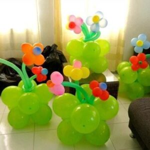 Ghiveci Flori din baloane-0