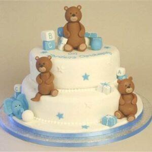 Tort pentru botez ursuleti-0
