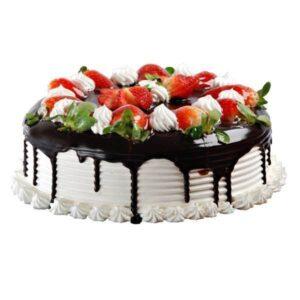 Tort capsuni, frisca si ciocolata-0