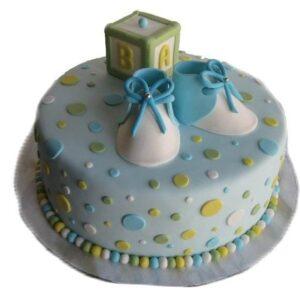 Tort botez cu bulinute si botosei-0