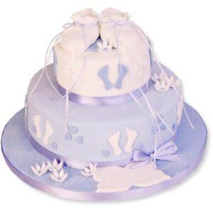 Tort botez albastru pentru baietel-0