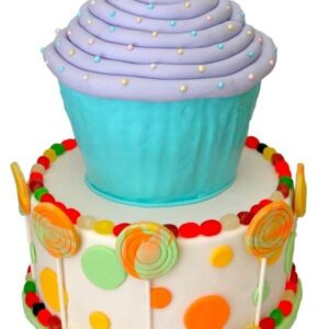 Tort Cupcake cu acadele si bomboane-0