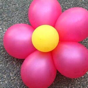 Floare din baloane simpla-0