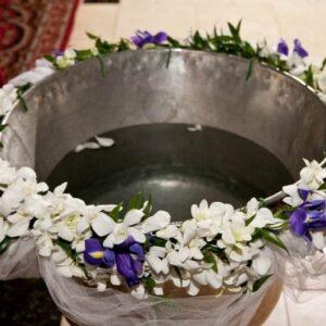 decor cristelnita botez cu tul