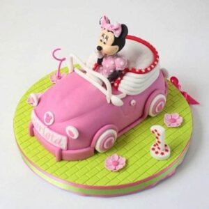 Tort copii masina lui Mini Mouse