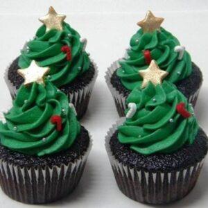 Cupcakes braduti pentru Craciun
