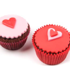Cupcakes cu inimioare pentru Valentine's Day -0