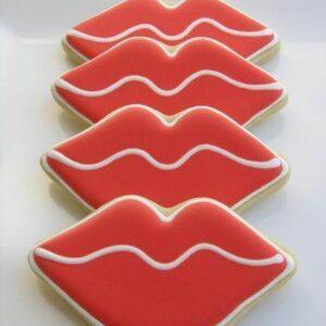 Turta dulce in forma de buze pentru Valentine's Day -0