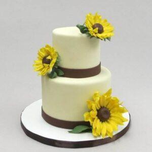 Tort de nunta cu floarea soarelui-0