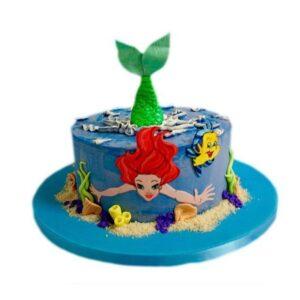 Tort cu mica sirena Ariel